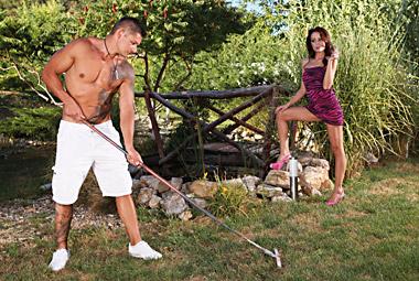 Bored wife fucks gardener